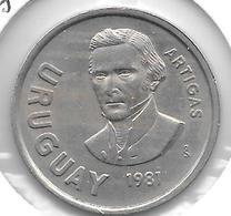 *uruguay 10 Pesos 1981 Km 79 Xf+ - Uruguay