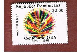 REPUBBLICA DOMENICANA (DOMINICAN REPUBLIC)  - SG 1776  -  1990  AMERICAN STATES ORGANITATION OSA (OEA)     - USED - Repubblica Domenicana