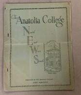TURKEY  GREECE  THE ANATOLIA COLLEGE NEWS   SALONIQUE  NR. 3.   1930. - History
