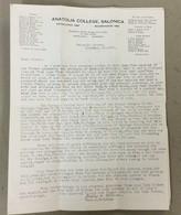 TURKEY  GREECE  ANATOLIA COLLEGE  SALONIQUE 1933.   VINTAGE  BROSCHURE - Histoire