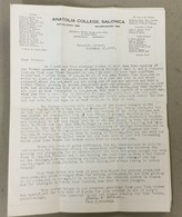 TURKEY  GREECE  ANATOLIA COLLEGE  SALONIQUE 1933.   VINTAGE  BROSCHURE - Storia