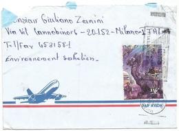 Star Wars Tribute Issue Mali 1997 Alien Animal F.310 Solo Franking AirmailCV N'Tomikorobougou Bamako 12jun1998 - Timbres