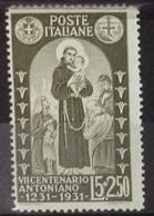 Italie N° 279 De 1931 Neuf Avec Charnière - Nuovi