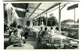 HOTEL JURA BASEL Foto L.M.Kohler Alte Autos Café-Leben Um 1950 - BS Bâle-Ville
