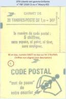 FRANCE - Carnet Conf. 8, RE, Numéro 54077 - 1f70 Liberté Vert - YT 2318 C1 / Maury 452 - Definitives