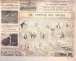 COEURS VAILLANTS N° 8 DU 22 FEVRIER 1948 8 PAGES TINTIN ET LE TEMPLE DU SOLEIL UN ENCART - Tintin