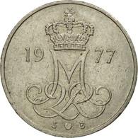 Monnaie, Danemark, Margrethe II, 10 Öre, 1977, Copenhagen, TTB, Copper-nickel - Suède