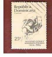 REPUBBLICA DOMENICANA (DOMINICAN REPUBLIC)  - SG 1663  -  1986  ANNIV. MAXIMO GOMEZ           - USED - Repubblica Domenicana