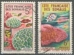Côte Française Des Somalis 1958-1967 - N° 316 & 317 (YT) N° 318 & 319 (AM) Oblitérés. - Côte Française Des Somalis (1894-1967)