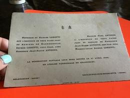 Carte De Mariage Seloncourt Saulxures Sur Moselotte - Cartes