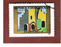 REPUBBLICA DOMENICANA (DOMINICAN REPUBLIC)  - SG 1774  -  1990  CHILDREN'S DRAWINGS        - USED - Repubblica Domenicana