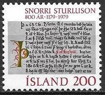 Islande 1979 N° 499 Neuf ** MNH Sagas Snorri Sturlusson - Ungebraucht