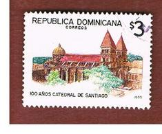 REPUBBLICA DOMENICANA (DOMINICAN REPUBLIC)  - SG 1922  -  1995  SANTIAGO CATHEDRAL       - USED - Repubblica Domenicana