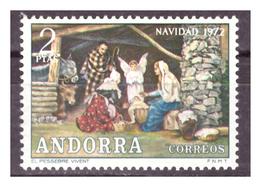 ANDORRA SP. -  1972 - NATALE.  - MNH** - Spanish Andorra