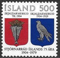 Islande 1979 N° 497 Neuf ** MNH 75ans Du Gouvernement Islandais - 1944-... Repubblica