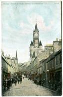 DUNFERMLINE Bridge Street And High Street With Good Streetlife Colour C. 1908 - Fife