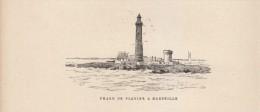 1891 - Gravure Sur Bois - Marseille (Bouches-du-Rhône) - Le Phare Du Planier - FRANCO DE PORT - Estampes & Gravures