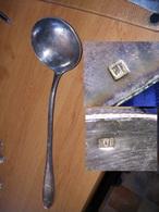 Couverts Anciens En Métal Argenté Louche - Silverware