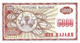 Macedonia P.7 5000 Dinars 1992 Unc - Macedonia