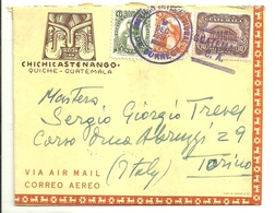 "1070 ""STORIA POSTALE - LETTERA DA MAYAN INN,CHICHICASTENANGO A SIG. TREVES,TORINO - 1957 "" LETTERA. ORIG. SPED. - Guatemala"