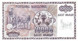 Macedonia P.8  10000 Dinars 1992 Unc - Macedonia