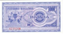 Macedonia P.6  1000 Dinars 1992 Unc - Macedonia