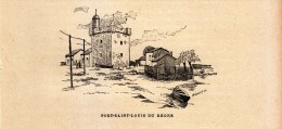 1891 - Gravure Sur Bois - Port-Saint-Louis-du-Rhône (Bouches-du-Rhône) - Vue -  FRANCO DE PORT - Stiche & Gravuren