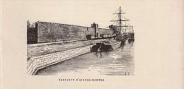 1891 - Gravure Sur Bois - Aigues-Mortes (Gard) - Les Remparts -  FRANCO DE PORT - Stiche & Gravuren