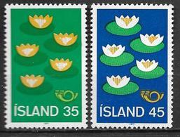 Islande 1977 N° 473/474 Neufs ** MNH Norden Nénuphars - 1944-... Repubblica