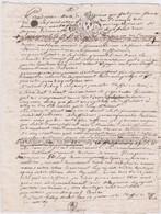 GENERALITE De BRETAGNE UN SOL 4D./ 13 JANVIER 1730 / BARONNIES De La HUNAUDAYE -  VAL ANDRE - Cachets Généralité