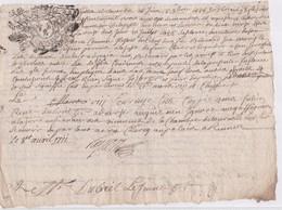 GENERALITE De BRETAGNE  LA CHAMBRE DE TOURNELLE à RENNES 16 SEPT 1686 - 1/2 Feuille - Seals Of Generality