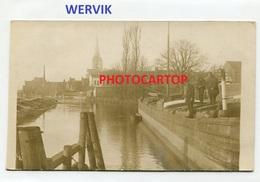 WERVIK-LYS-Canal-PENICHES-CARTE PHOTO Allemande-Guerre 14-18-1WK-BELGIEN-Flandern- - Wervik