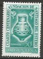 Argentina - 1953 Santiago Del Estero MNH *   Sc 619 - Argentina