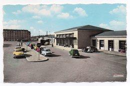 Cpsm 60 - Creil - La Gare - (9x14 Cm) - (Citroen DS Traction - Renault Dauphine...) - Creil