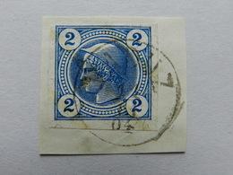 1899, 2Kr Zeitungsmarke Gest. VADUZ - ...-1912 Precursores