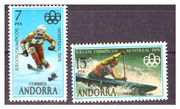 ANDORRA SP. -  1976 - OLIMPIADI DI MONTREAL. SERIE COMPLETA.  - MNH** - Spanish Andorra