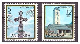 ANDORRA SP. -  1977 - NATALE. SERIE COMPLETA.  - MNH** - Neufs