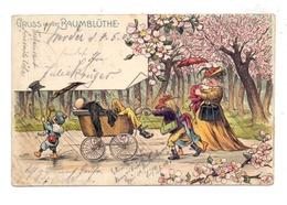 0-1512 WERDER / Havel, Gruss Aus Der Baumblüthe, 1905, Humor, Kl. Knick - Werder