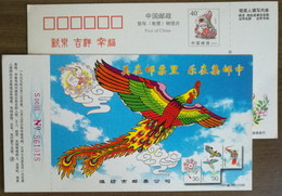 Phoenix Kite,China 1998 Weifang Philately Company Advertising Pre-stamped Card - Disfraces