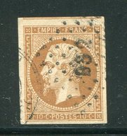 Y&T N°13A- Bistre Brun- Bureau De Paris BS2 - 1853-1860 Napoleone III