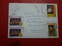 L'Équateur Enveloppe Circulé Avec Grand Cantite De Timbres - Ecuador