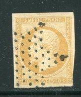 Y&T N°13A- Jaune Citron- Etoile De Paris - 1853-1860 Napoleon III