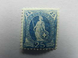 25c Blau - 1882-1906 Wappen, Stehende Helvetia & UPU