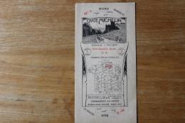Publicité  Carte Michelin   N°6  Saint Quentin Reims - Maps