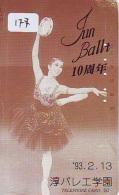 Télécarte BALLET (177) Ballette Dance Dancing Tanzen Danser Ballare Bailar Dançar Phonecard - Télécartes
