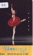 Télécarte BALLET (187) Ballette Dance Dancing Tanzen Danser Ballare Bailar Dançar Phonecard - Télécartes