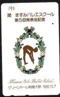 Télécarte BALLET (190) Ballette Dance Dancing Tanzen Danser Ballare Bailar Dançar Phonecard - Télécartes