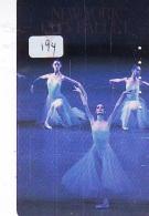 Télécarte BALLET (194) Ballette Dance Dancing Tanzen Danser Ballare Bailar Dançar Phonecard - Télécartes