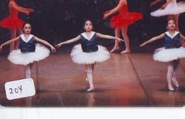 Télécarte BALLET (204) Ballette Dance Dancing Tanzen Danser Ballare Bailar Dançar Phonecard - Télécartes