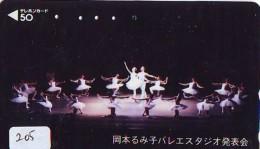 Télécarte BALLET (205) Ballette Dance Dancing Tanzen Danser Ballare Bailar Dançar Phonecard - Télécartes